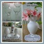 Faux Ceramic Vases