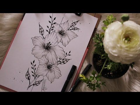 رسم الزهور خطوة بخطوة Draw Flowers Step By Step Youtube Flower Drawing Flower Step By Step My Drawings