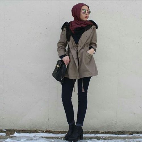 winter-hijab-style- Hijab casual wear 2017 http://www.justtrendygirls.com/hijab-casual-wear-2017/: