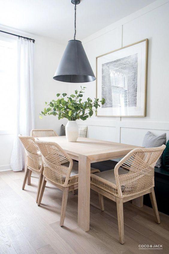 Contemporary dining area | breakfast nook / banquette | Coco & Jack