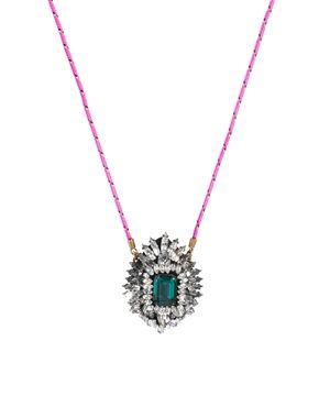 Shourouk Leitmotiv Yildiz Emerald Necklace