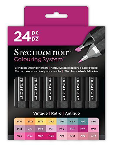 Spectrum Noir 24Stylo Boîte-Vintage