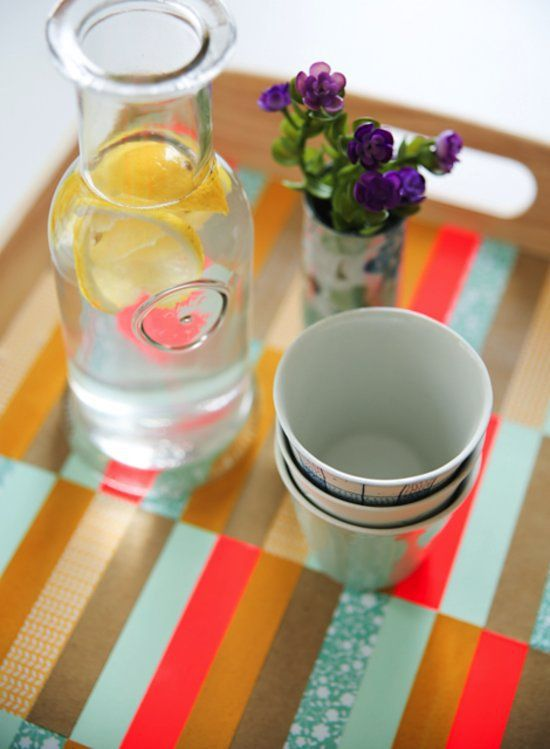 Pin for Later: 30 Clever Home Hacks For Decor-Lovers Take Trays Up a Notch With Paper Strips