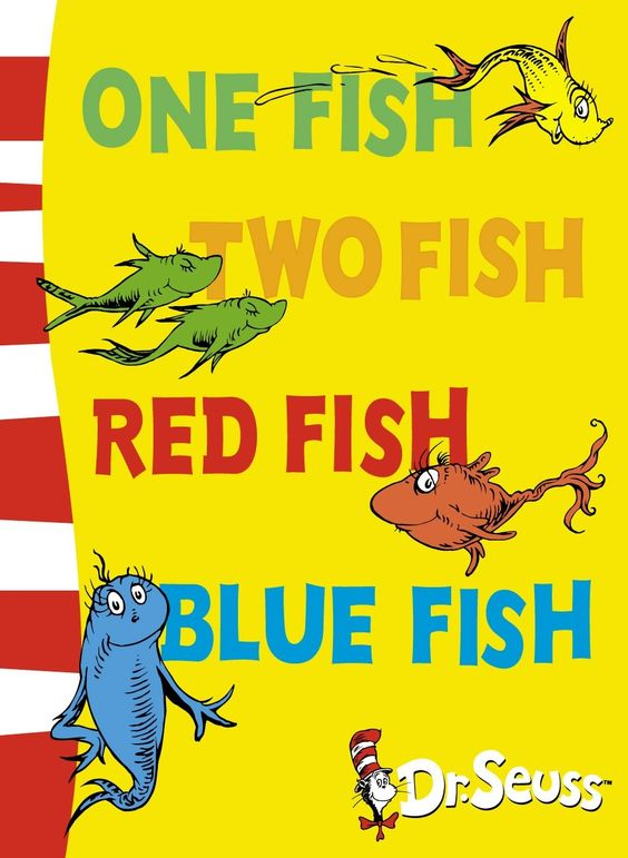 Image result for red fish blue fish book