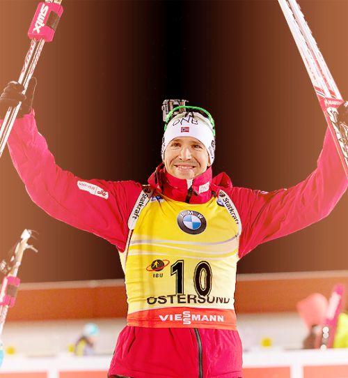 """First race of the season = victory. Emil Hegle Svendsen won the men""""s 20K individual race at a biathlon World Cup in Östersund. The Norwegian star was simply Emil Hegle Svendsen a one-man show today. He did something that no one else could today, shoot clean."""