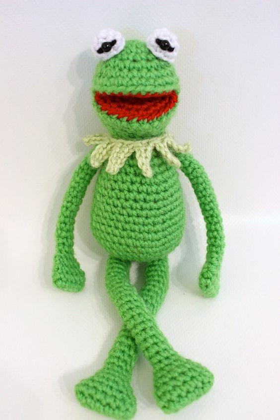 Kermit the Frog inspired crochet pattern by FatCatsCrochet ...