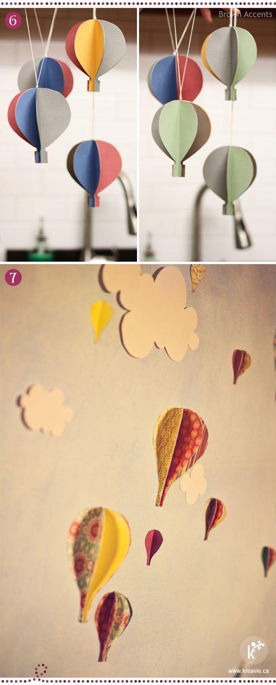 Diy montgolfi res en papier montgolfi re en 3d via - Montgolfiere en papier ...