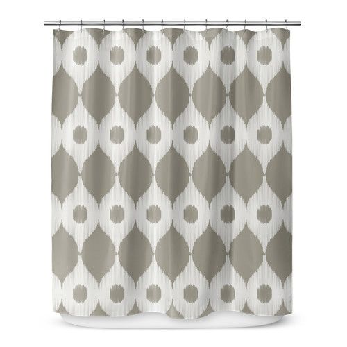 Forrest Rain Ikat Single Shower Curtain Shower Curtain Rain