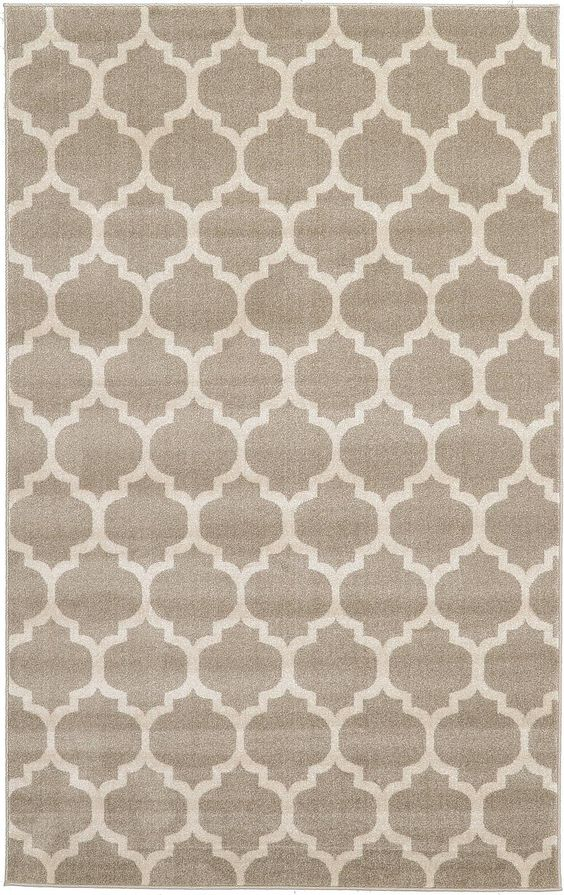 Tan 5' x 8' Trellis Rug | Area Rugs | iRugs UK
