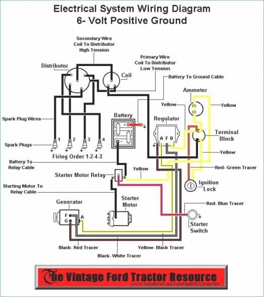 6 volt 9n ford tractor wiring diagram  ford tractors 8n