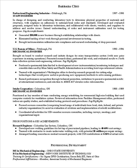Resume For High School Student #217 -    topresumeinfo 2014 - Mechanical Engineering Sample Resume