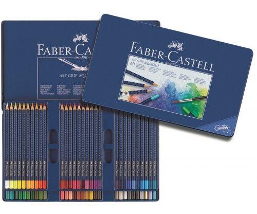 Akvarellpliiatsid Faber Castell Art Grip Aquarelle - 60 värvi