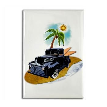 Classic Surfer Pickup Rectangle Magnet #magnets #gifts