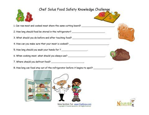 Worksheets Food Safety Worksheet food safety worksheets bloggakuten school children middle and image search on pinterest