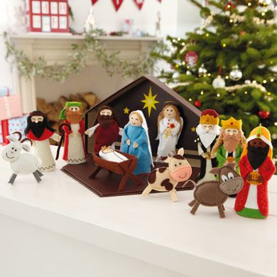 Your kids will love this adorable nativity set every single Christmas! Includes: 12 detailed felt attributes to the Nativity story #kids