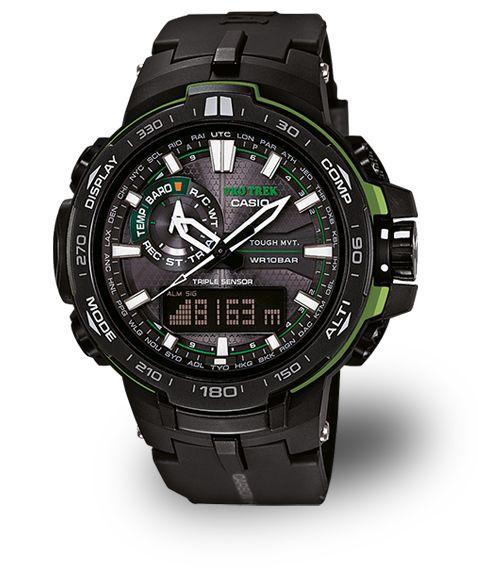 PRO TREK Uhren von CASIO bieten Funktionen wie Solarbetrieb, Digitalkompass, Höhenmesser, Barometer und Thermometer – perfekt für Outdoor- und Trekking-Fans.