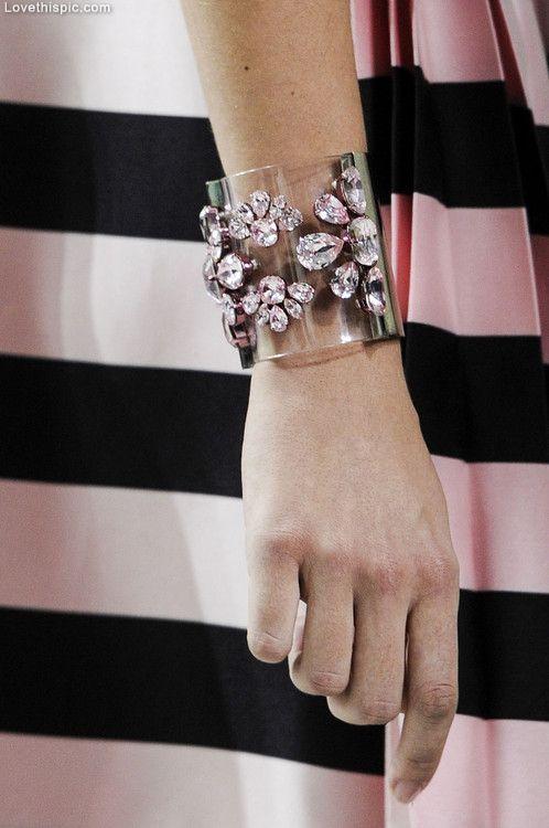 Pink Diamonds fashion jewelry designer bracelet christian dior