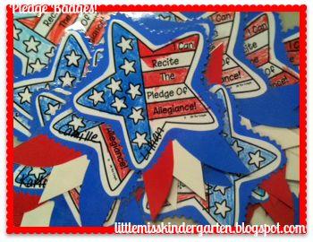 Little Miss Kindergarten - Lessons from the Little Red Schoolhouse!: Pledge Badges!