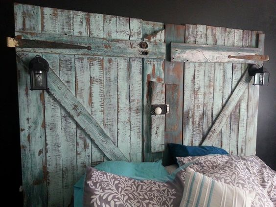 Barn Door Headboard King by 13beaterstreet on Etsy