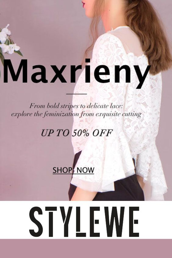 StyleWe is offering up to 50% discount on Maxrieny Dresses. Form bold stripes to delicate lace: explore the feminization from exquisite cutting. Grab up now! For more StyleWe Coupon Codes visit: http://www.couponcutcode.com/stores/stylewe/