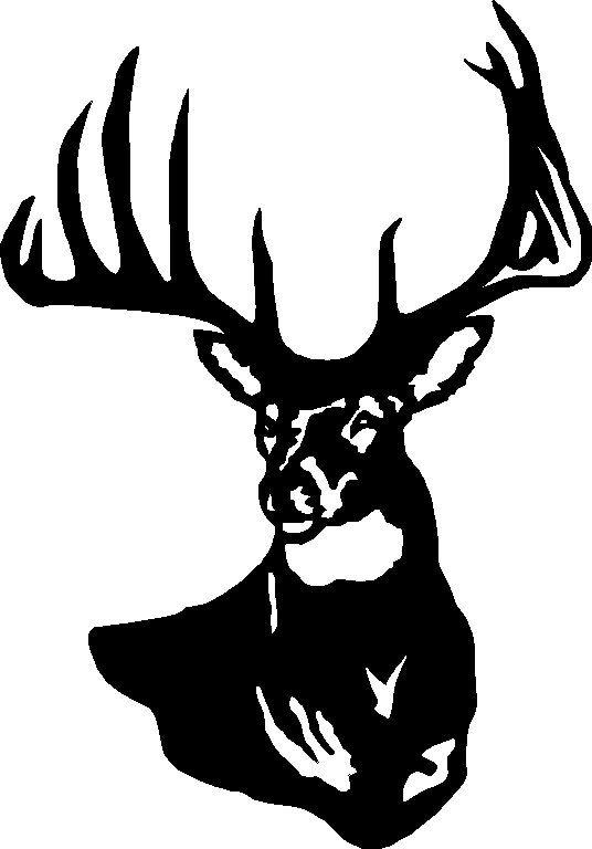 Deer Head Silhouette Stencil