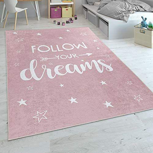 Paco Home Kinderteppich Waschbarer Kinderzimmer Teppich M Stern Mond U Karo Motiven Grosse 80x150 Cm Farbe Pi In 2020 Kinderteppiche Teppich Kinderzimmer Teppich