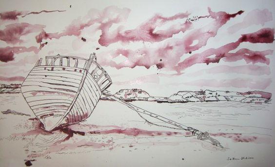 Küste - Zeichnung von Susanne Haun
