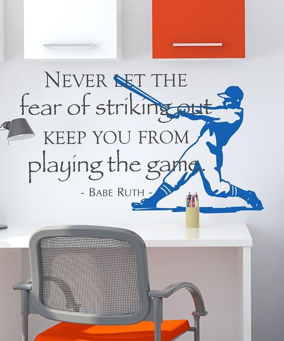 Perfect for Lane's baseball themed room!