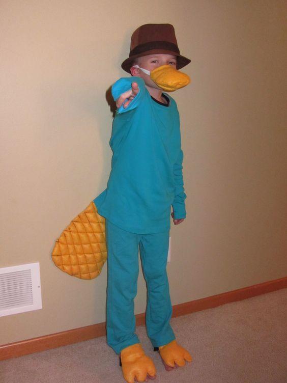 Perry the Platypus diy costume w/ fedora