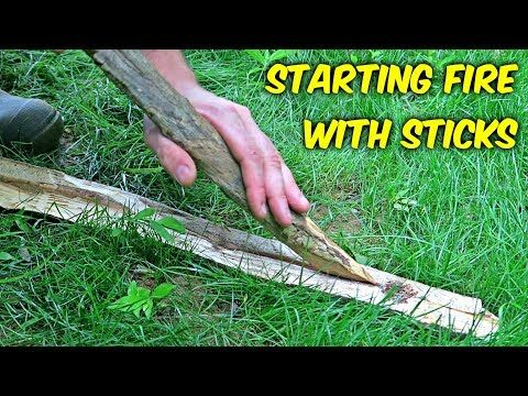 Starting Fire With Sticks Fire Plow Youtube How To Make Fire Fire Survival Skills
