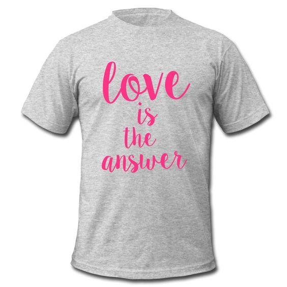 Liebe ist die einzige Antwort – auf alles! Setzt ein Zeichen!! • Klassisch geschnittenes T-Shirt für Männer
