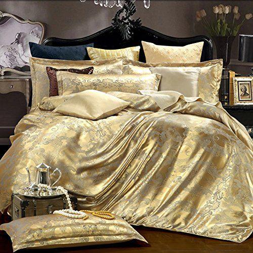Solid Color Satin Jacquard Thicken Quilt Cover Pure Color Plant Flowers Satin Jacquard Quilt Cover Double Peop Bed Linen Sets Jacquard Bedding Duvet Cover Sets