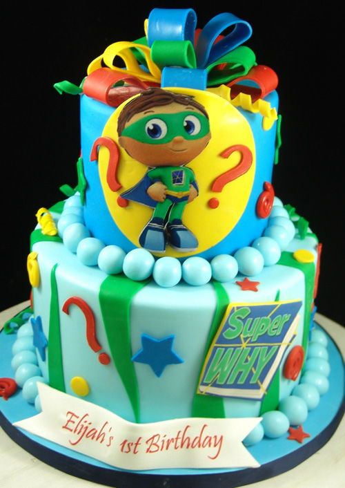 Amazing Super Why Themed Birthday Cake For Kids Super Why Birthday Funny Birthday Cards Online Elaedamsfinfo