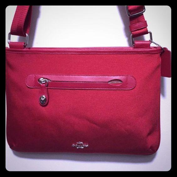 Red Coach Crossbody bag Red Coach crossbody bag. Used for 1 week. Coach Bags Crossbody Bags