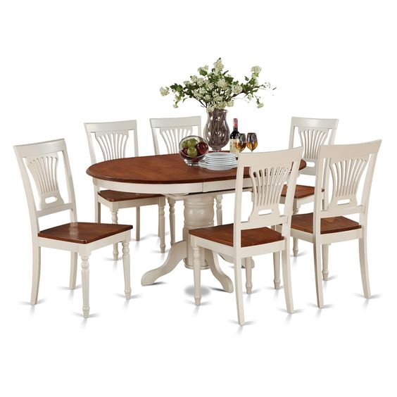 7-piece Oval Table with Leaf and 6 Dining Chairs Shopping, Dining