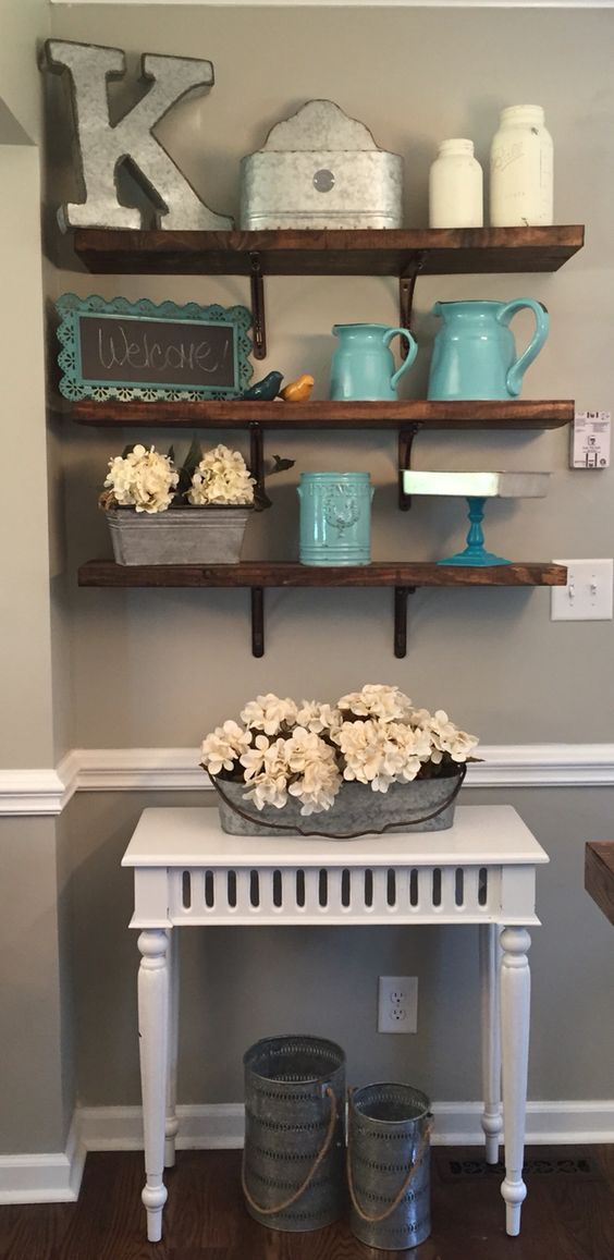 40 DIY Rustic Open Shelving Country Chic Vintage Home