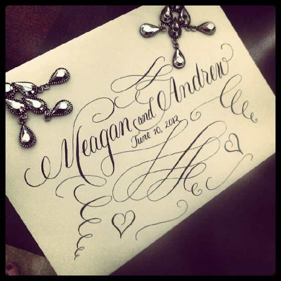 Elaborate Calligraphy Stamp idea.  This could also be used for various things such as Thank You Cards, Invitations, Menus, Programs, etc.