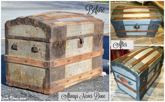 DIY steamer trunk restoration