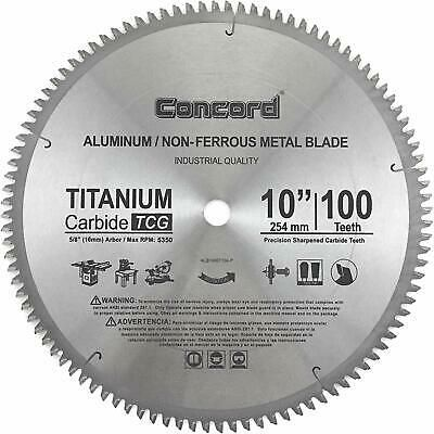 Details About Concord Blades Acb1000t100hp 10 Inch 100 Teeth Tct Non Ferrous Metal Saw Blade With Images Non Ferrous Metals Circular Saw Blades Saw Accessories
