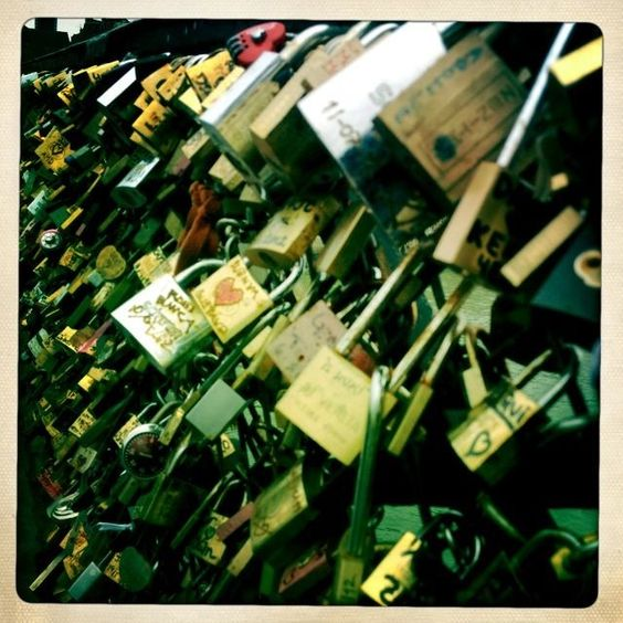 Locks on the lover's bridge ❤