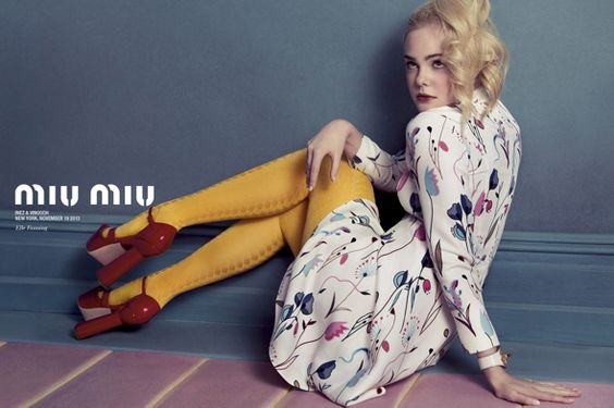 Adorable Elle Fanning for Miu Miu SS 2014 photographed by Inez and Vinoodh l #fashion #youngactress