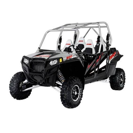 Pro Armor 2012 Polaris RZR XP 4 900 Liquid Silver Graphic Kit with Solid No Cut Outs