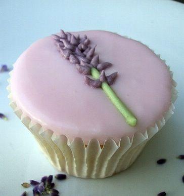 lavender iced cupcake