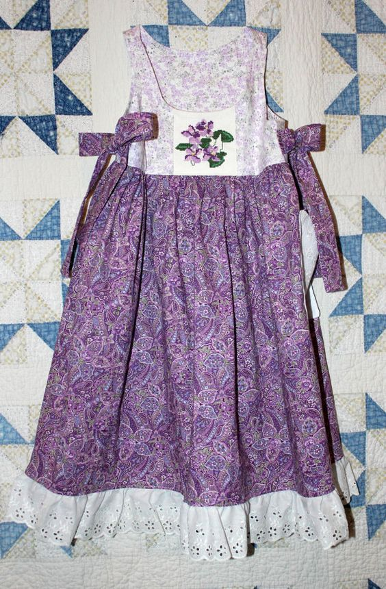 Purple Passion Sundress/jumper in purple  by RowesFlyingNeedles