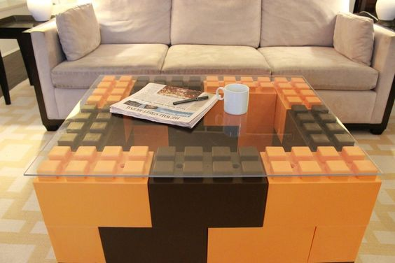 Lego land: These life-size plastic blocks can be made into furniture