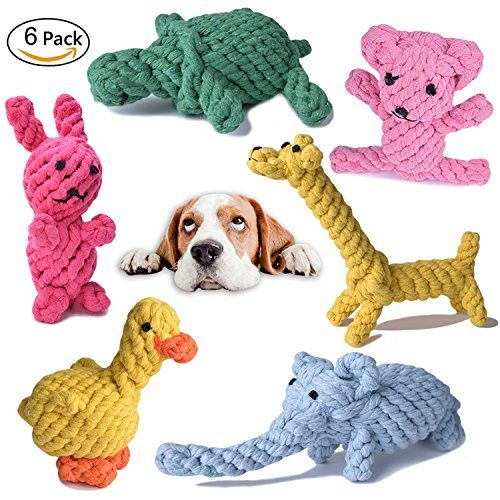 Pet Dog Toys Cotton Rope Puppy Chew Toys Cute Fun Shape Animals
