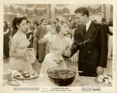 "Liz Taylor, Jane Powell & Robert Stack in ""Date With Judy"""