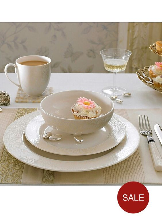 Monsoon by Denby Lucille Gold 16 Piece Dinner Set Visit:www.homediningstore.co.uk