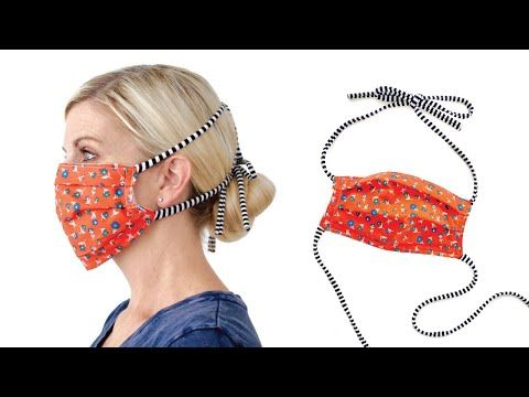 Easy Fabric Face Mask With Filter Pocket And Simple Ties Use An