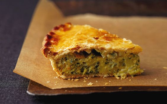 Gourmet.com Cheddar Cheese and Onion Pie